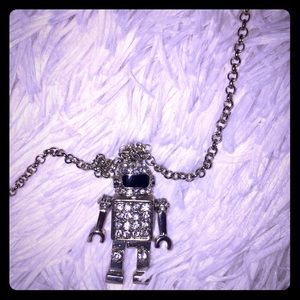 Jewelry - Robot Necklace with Bling
